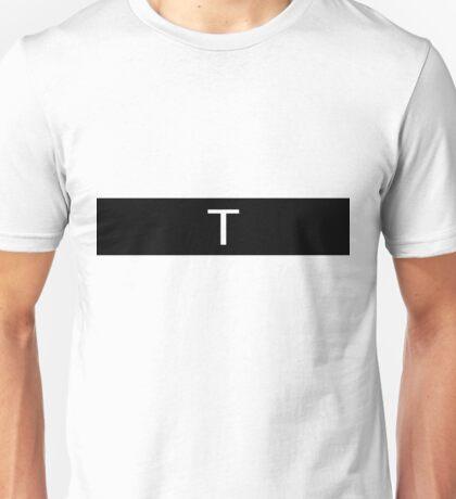 Alphabet Collection - Tango Black Unisex T-Shirt