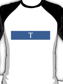 Alphabet Collection - Tango Blue T-Shirt