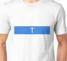 Alphabet Collection - Tango Blue Unisex T-Shirt