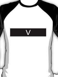 Alphabet Collection - Victor Black T-Shirt