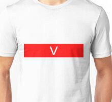 Alphabet Collection - Victor Red Unisex T-Shirt