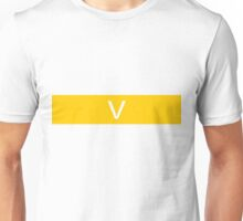 Alphabet Collection - Victor Yellow Unisex T-Shirt