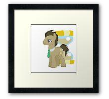 Dr Whooves Pixel Myliitle Pony Brony Pegasister Framed Print