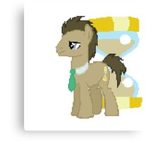 Dr Whooves Pixel Myliitle Pony Brony Pegasister Canvas Print