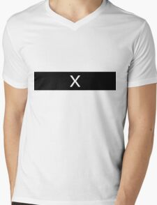 Alphabet Collection - X-Ray Black Mens V-Neck T-Shirt