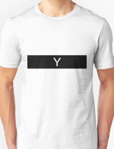 Alphabet Collection - Yankee Black Unisex T-Shirt