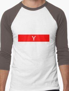 Alphabet Collection - Yankee Red Men's Baseball ¾ T-Shirt