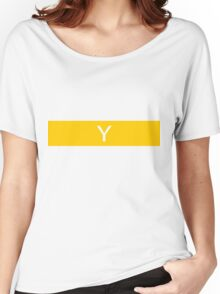 Alphabet Collection - Yankee Yellow Women's Relaxed Fit T-Shirt