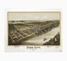 Panoramic Maps Ford City Armstrong County Pennsylvania 1896 Kids Tee