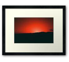 Sunset in California Framed Print