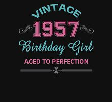 Vintage 1957 Birthday Girl Aged To Perfection Womens Fitted T-Shirt