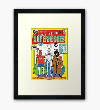 superheroes Framed Print