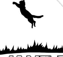 I want to believe - cat abduction Sticker