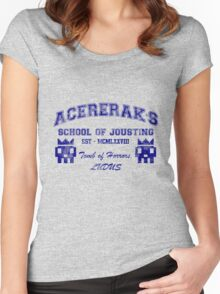 Acererak's School of Jousting Women's Fitted Scoop T-Shirt