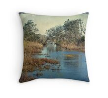 Tidal Creek - Outer Banks North Carolina Throw Pillow