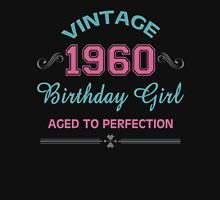 Vintage 1960 Birthday Girl Aged To Perfection Womens Fitted T-Shirt