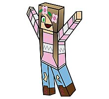 Minecraft character 03 Photographic Print
