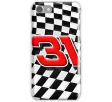 31 checkered flag iPhone Case/Skin