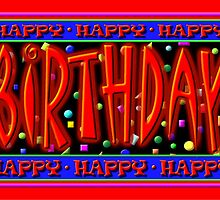Happy Birthday, Caption Card by luvapples downunder/ Norval Arbogast