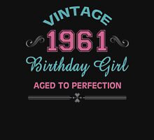 Vintage 1961 Birthday Girl Aged To Perfection Womens Fitted T-Shirt