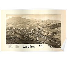 Panoramic Maps Ludlow Vt Poster