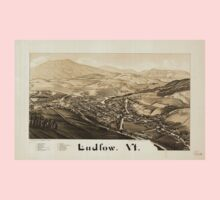 Panoramic Maps Ludlow Vt Kids Tee