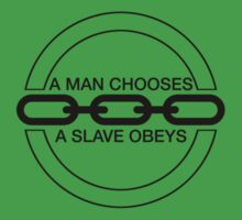 Man or Slave (Black) Kids Clothes