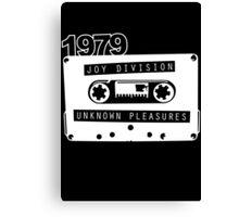 Post-punk  Unknown Pleasures Canvas Print