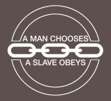 Man or Slave (White) Kids Clothes