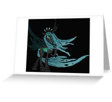 Queen Chrysalis Pixel My Little Pony Brony Pegasister Greeting Card