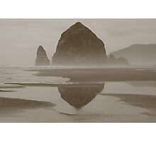 Cloudy Cannon Beach Photographic Print