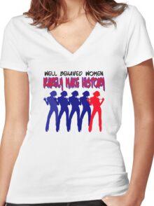 BAD GIRLS Women's Fitted V-Neck T-Shirt