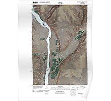 USGS Topo Map Washington State WA Rock Island Dam 20110411 TM Poster