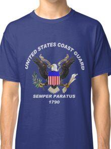 USCG Semper Paratus Logo for Dark Colors Classic T-Shirt