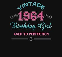 Vintage 1964 Birthday Girl Aged To Perfection Womens Fitted T-Shirt