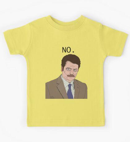 "R. Swanson - ""No"" Kids Tee"
