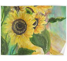 Sunflower Traveling Poster