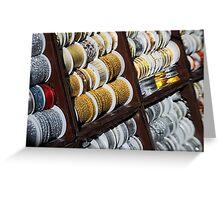 Brocade Ribbon Greeting Card