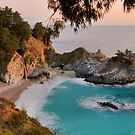 McWay Falls At Sunset by Stephen Vecchiotti