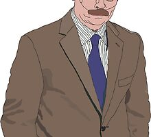 R. Swanson Drawing by joshgranovsky