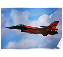 F-16 Falcon Fighter Jet Poster