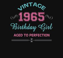 Vintage 1965 Birthday Girl Aged To Perfection Womens Fitted T-Shirt