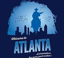 Welcome To Atlanta (blue) by sebisghosts