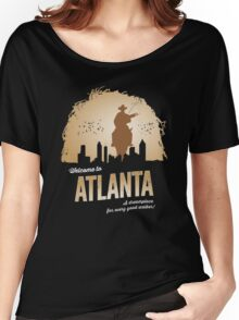 Welcome To Atlanta (brown) Women's Relaxed Fit T-Shirt