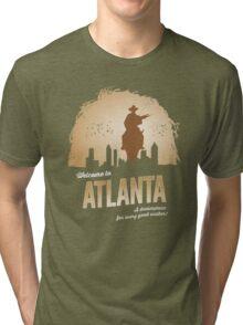 Welcome To Atlanta (brown) Tri-blend T-Shirt