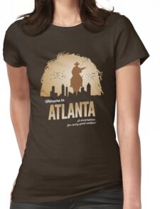 Welcome To Atlanta (brown) Womens Fitted T-Shirt