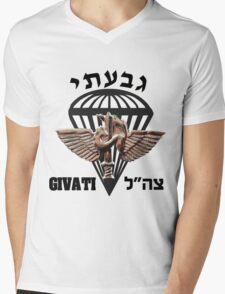 The Givati Brigade Logo Mens V-Neck T-Shirt