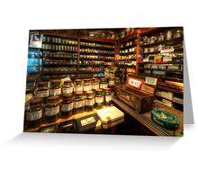 Tobacco Jars Greeting Card