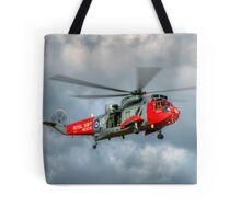Royal Navy Search and Rescue Sea King Helicopter Tote Bag