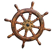 Vintage Ships Wheel by mrdoomits